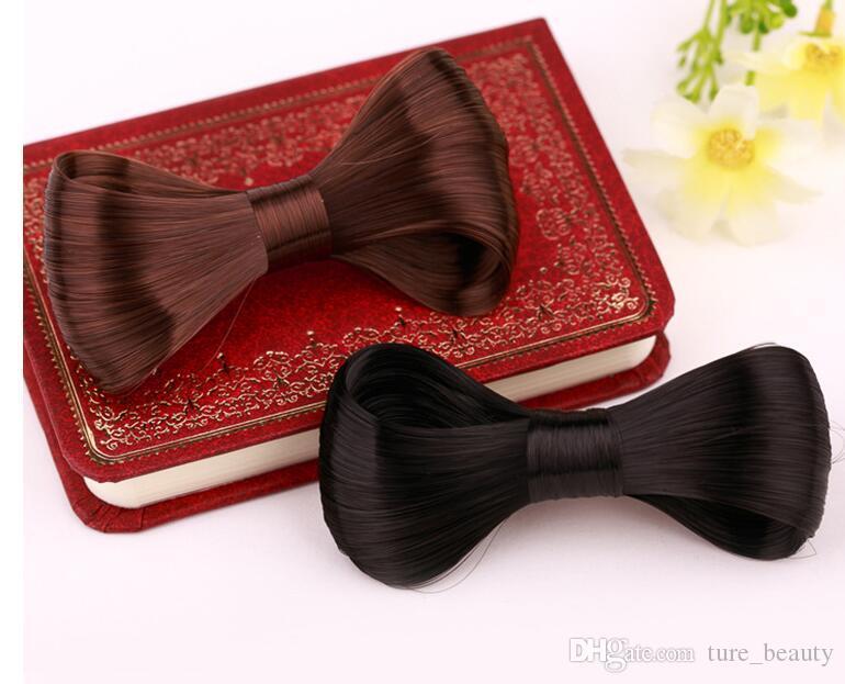 Mode Faux cheveux Big Bow Cheveux Barrette Clip Noir Marron Or Femmes Accessoire Partie Cadeau