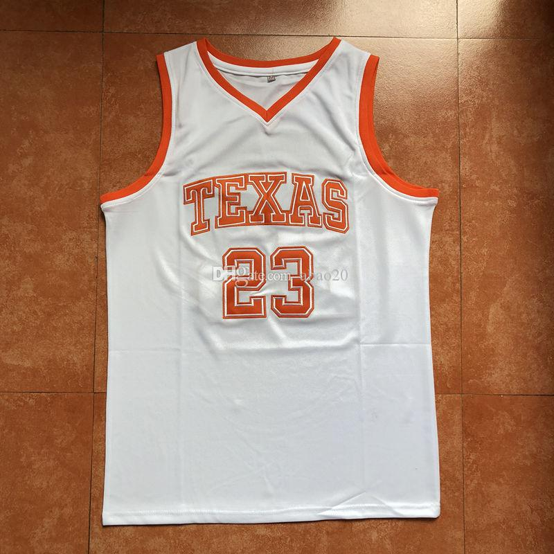 d9f775856  23 Khris Middleton Texas College Basketball Jersey Men s Embroidery  Stitches Customize any Number and name jerseys