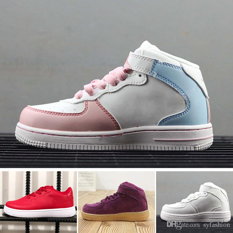 Low De Cher 1 Skateboard Enfants Force Pas Garçons Ni Plat Filles Air Skate Zapatos Fly Af1 Nike Classic Max Forces Chaussures Red bvmIyY7f6g