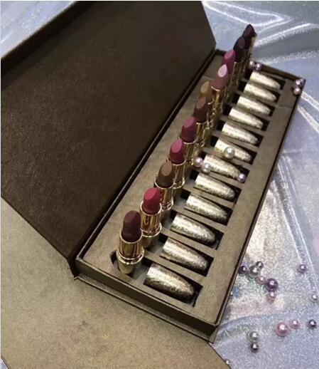 Cosmetics Set Snow Ball Set de barra de labios / set Set de barra de labios mate Shinny Rouge A Levres mate Lipstick 2018 hot new