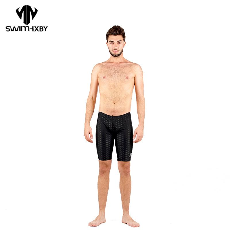 5def6e3f0f 2019 HXBY Men Racing Swimwear Shark Skin Competitive Swimsuits Swimming  Trunks Pocket Beach Surf Board Shorts Training Trunks From Waxeer, $75.81    DHgate.