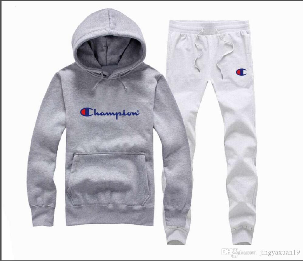 10a5c96d4cfc 2019 2019 Champion Brand Men And Women Hooded And Pant Tracksuits Long  Sleeved Men S Sportswear Fashion Leisure Suit Spring And Autumn From  Jingyaxuan19, ...