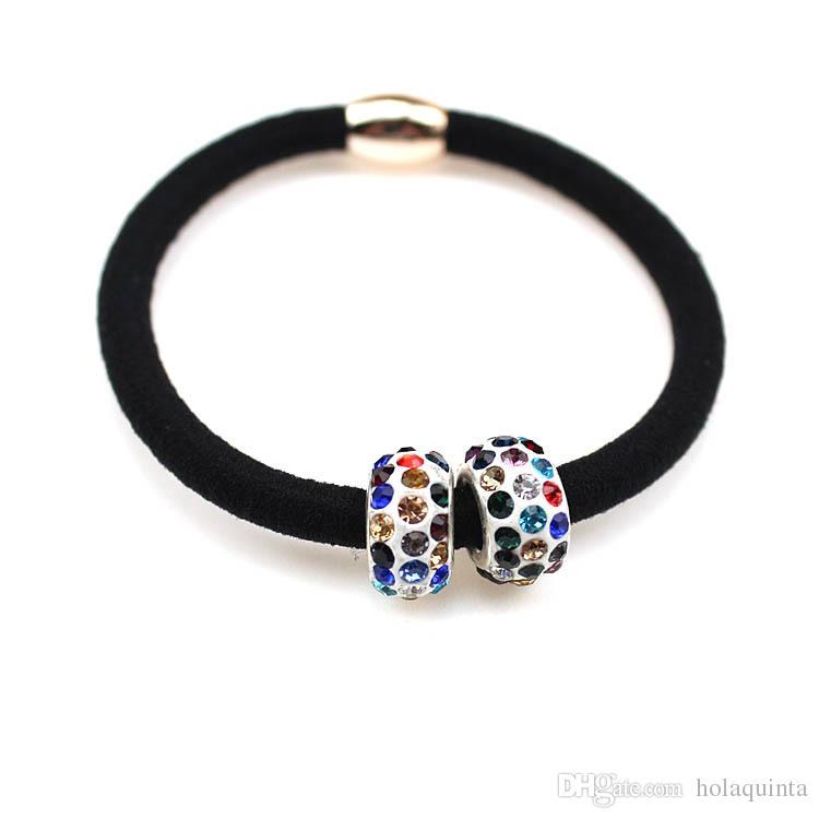 Perles rondes colorées Accessoires cheveux bandeau femmes, bandes élastiques pour les filles de cheveux, ornements de cheveux bande de cheveux pour les enfants