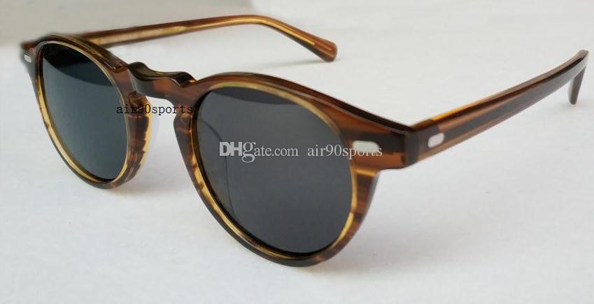 Großhandel Oliver Vintage Männer und Frauen 5186 Sonnenbrille Völker Sonnenbrille ov5186 polarisierte Sonnenbrille 45mm Retro-Designer-Marke Brille