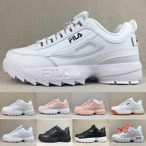 abdbe5243e7 2018 Off Disruptors II 2.0 Mens Womens White Black Sneakers Raf ...