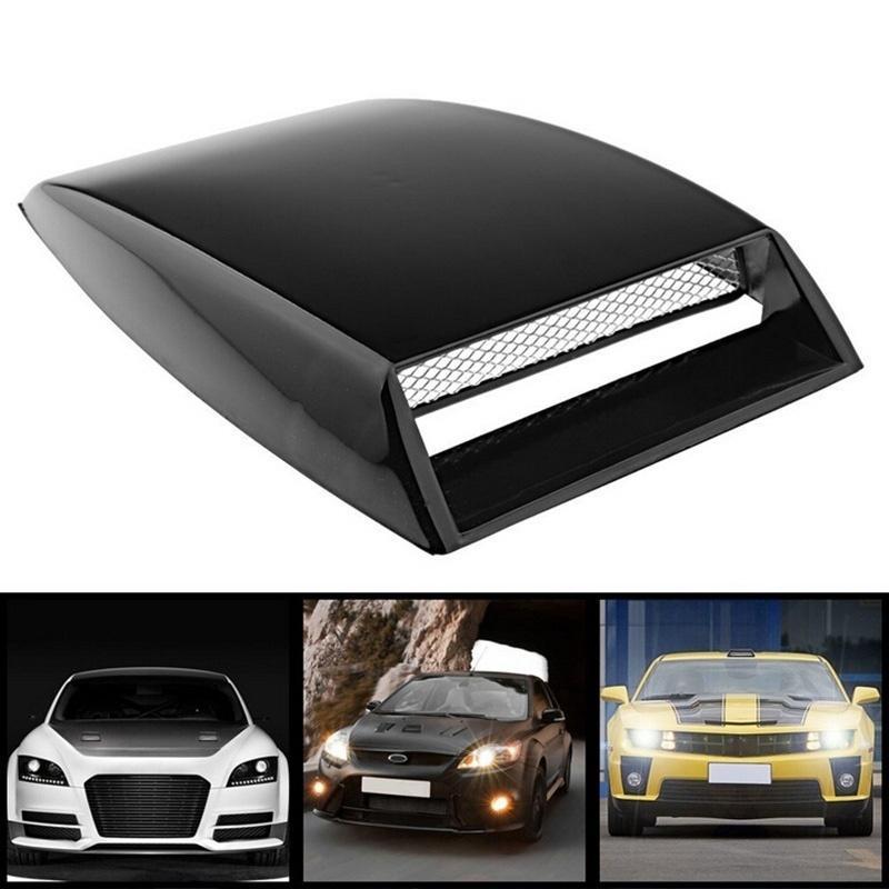 Dhl Universal Car Decorative Silver/Black/White Air Flow Intake Hood ...