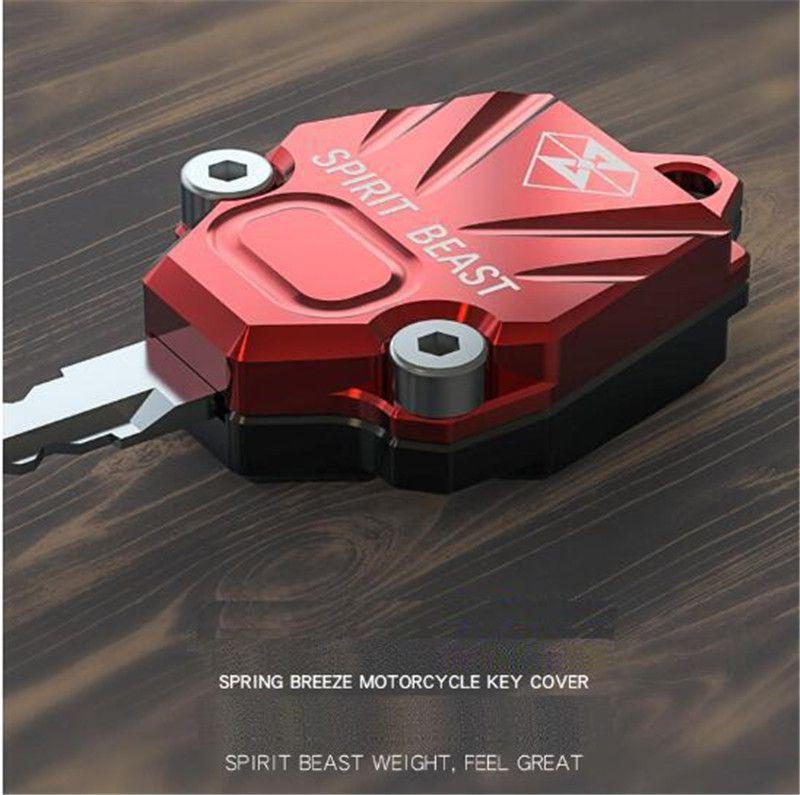 527dd2880 Compre SPIRIT BEAST Motocicleta Chave Acessórios Decoração Chave Capa Produtos  Criativos NK150 Dedicado Car Styling Diy Moto De Bdauto