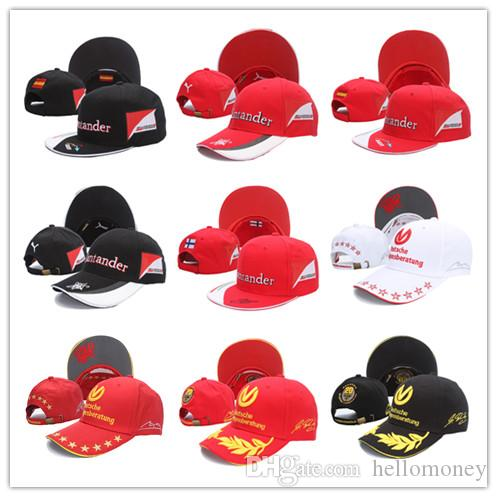 1ee6c952cdc1e8 New Black Red F1 Racing Cap Car Motocycle Racing Moto Gp Vr 99 Rossi ...