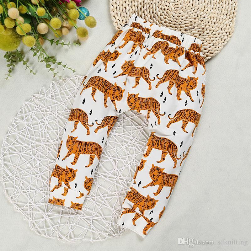Baby Clothes PP Pants Kids Ins Haren Pants Toddler Cotton Fashion Pants Boys Lemon Leggings Girl Fox Tights Dinosaur Fruit Pant