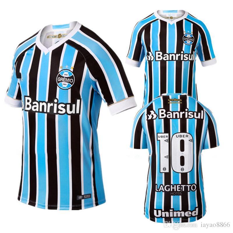 bf0cfa424dcde Compre 2018 2019 Melhor Qualidade Grêmio Casa Terceira Camisa De Futebol 18  19 Grêmio MILLER LUAN DOUGLAS DIEGO HAILON Futebol Jersey Terceiro Camisas  De ...