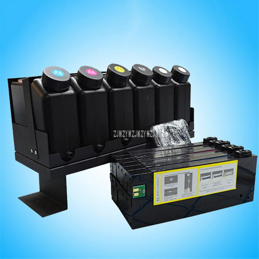 UV Ink Cartridges System Bulk Replacement For Roland / Mimaki / Mutoh  Printer Ink Supply System kit (6 bottle With 6 Cartridge)