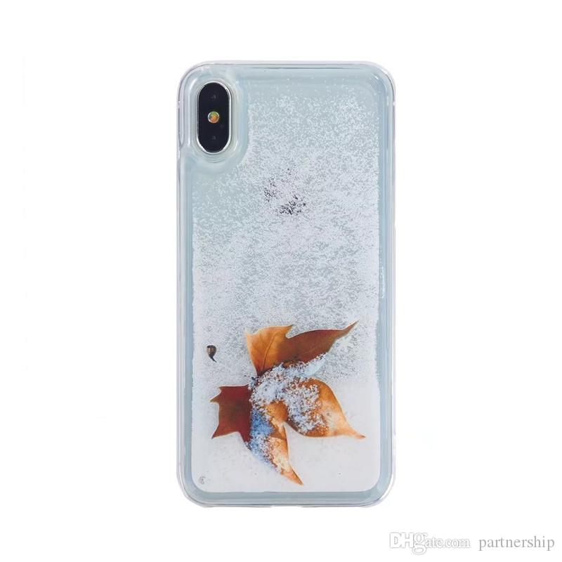NEW Luxury Glitter Liquid Sand Quicksand Star Case for iphone X 6 6S 7 8 Plus Transparent Quicksand Hard Back Cover Coque