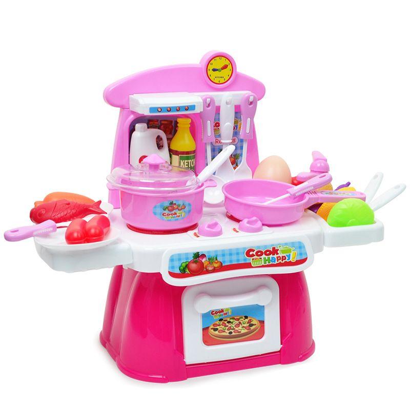 2018 Wholesale Pretend Play Set Kitchen Toys Girls Cooking Utensils ...