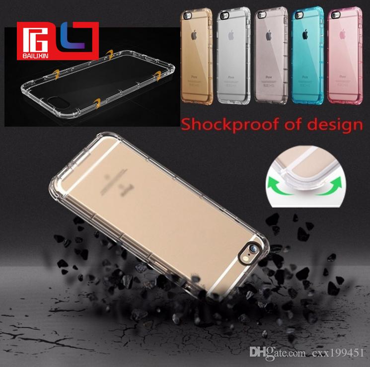 timeless design 57769 80724 Corner Airbags Shockproof Soft TPU Phone Case For iPhone 7 Plus Back Cover  Transparent Protector Free DHL Shipping