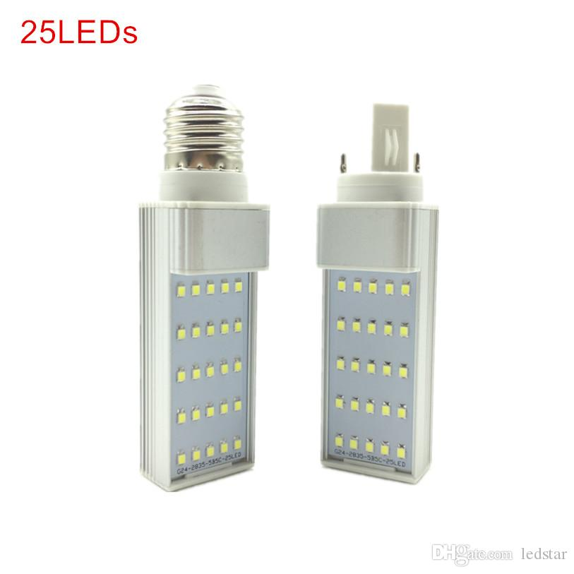 G24 / E27 Bombillas LED 7W 9W 11W 13W 15W LED Corn bulbo de lámpara de SMD 2835 Spotlight 180 Grado AC85-265V Horizontal Plug Light