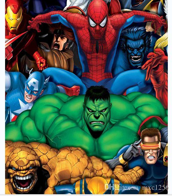 2019 HulkSpider ManSuper Heros Bathroom Cartoon Shower CurtainsFabric CurtainThin Curtain12 Hooks12 RingsWaterproof180cm 7171 From Mxc1256