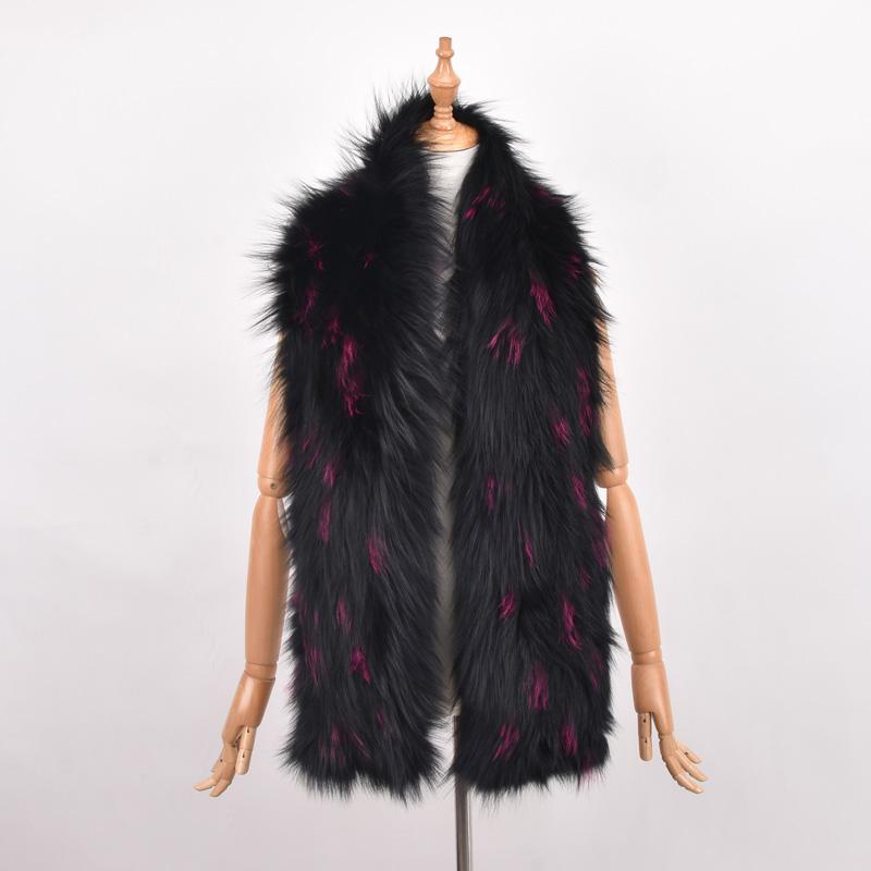 100% natürliche Pelz Schal Luxus Silber Fuchspelzkragen Schal Frauen Echt Fox Kragen Abnutzung Schal