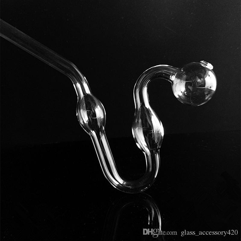 Pyrex Glass Oil Burner Clear Glass Oil Burner Glass Tube Oil Burning Pipe somking pipes water pipes