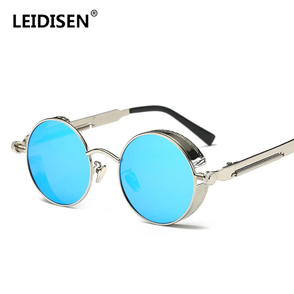 d1bbfa26dc LEIDISEN Polarized Motorcycle Glasses Steampunk Retro Sunglasses Vintage  Round Moto Goggles Aviator Biker Riding Driving Eyewear Windproof  Motorcycle ...