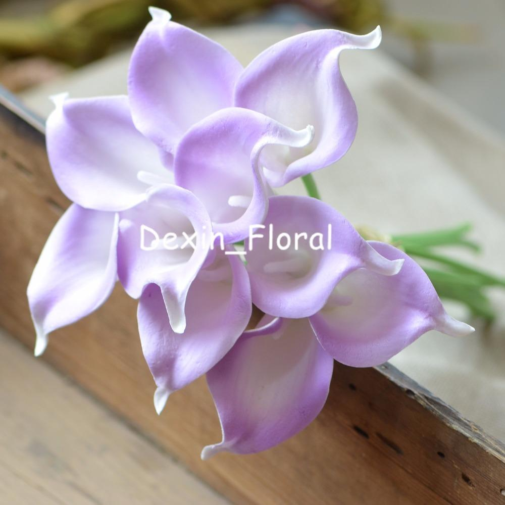 2018 lilac calla lilies real touch flowers wedding bouquets light 2018 lilac calla lilies real touch flowers wedding bouquets light purple silk bridal bouquets wedding centerpieces artificial flowers from wenglianbo izmirmasajfo