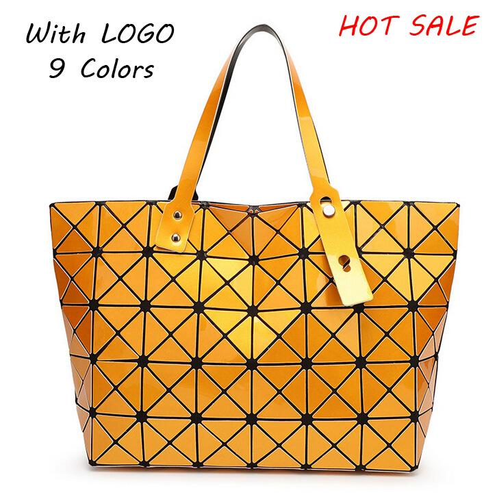 2017 New Bao Bao Brand Logo Women Pearl Bag Diamond Lattice Tote