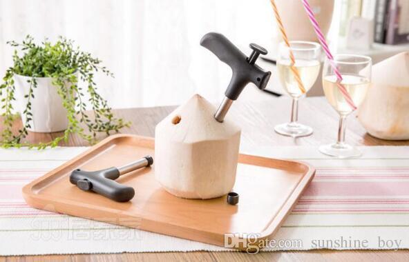 100 adet Hindistan Cevizi Açacağı Dokunun Genç Driller Coco Su Cocoknife Tay Matkap Delik Kesim Bıçak Aracı Temizleme Sopa Mutfak ...