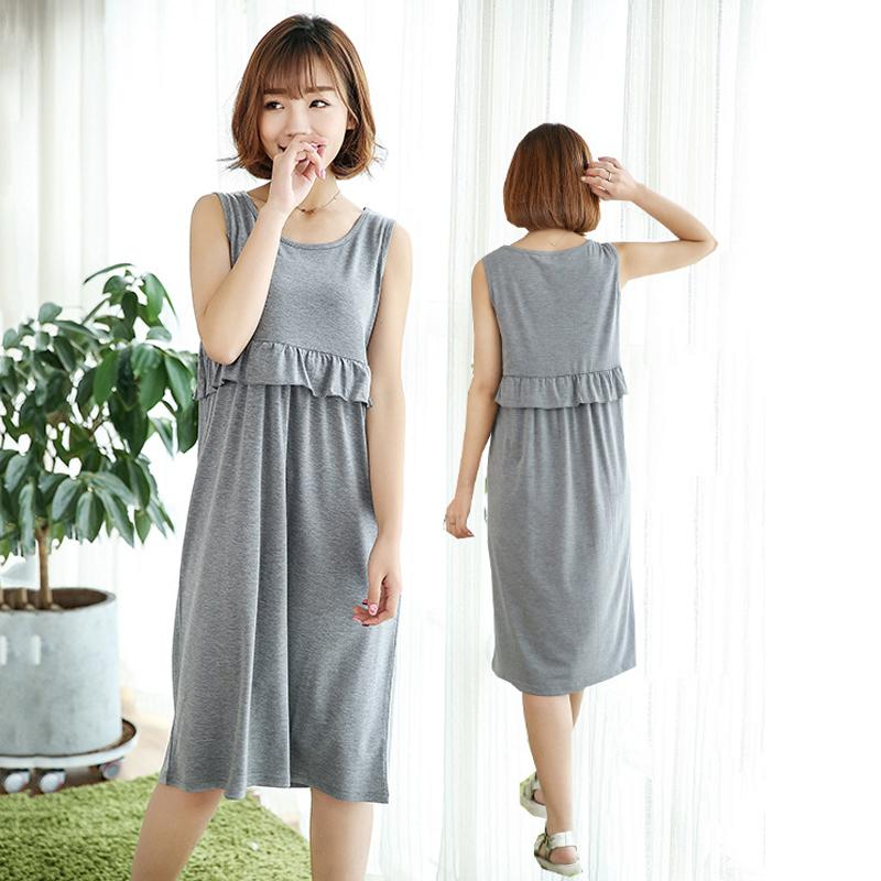 d377b0c0fa760 2019 Maternity Pajamas Dresses Nursing Nightgown Sleepwear Nightwear  Pregnancy Clothing Breastfeeding Clothes For Pregnant Women From Bradle, ...