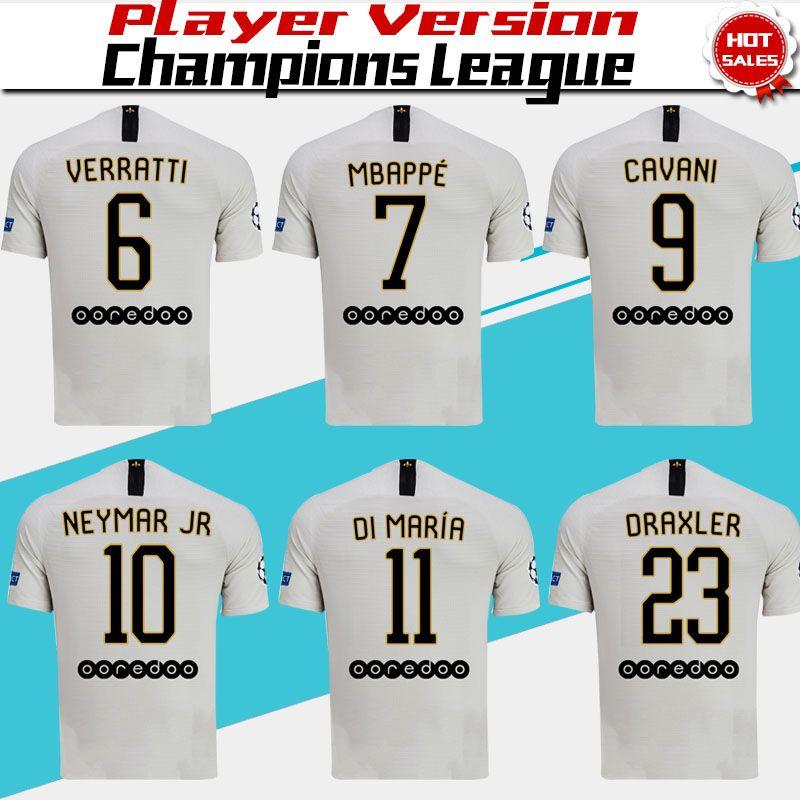 733294c30b0 2019 Player Version PSG  10 NEYMAR JR Away Soccer Jersey 2019 Paris Saint  Germain Away Soccer Shirt  6 VERRATTI  7 MBAPPE Football With Patch From  Xctc5320