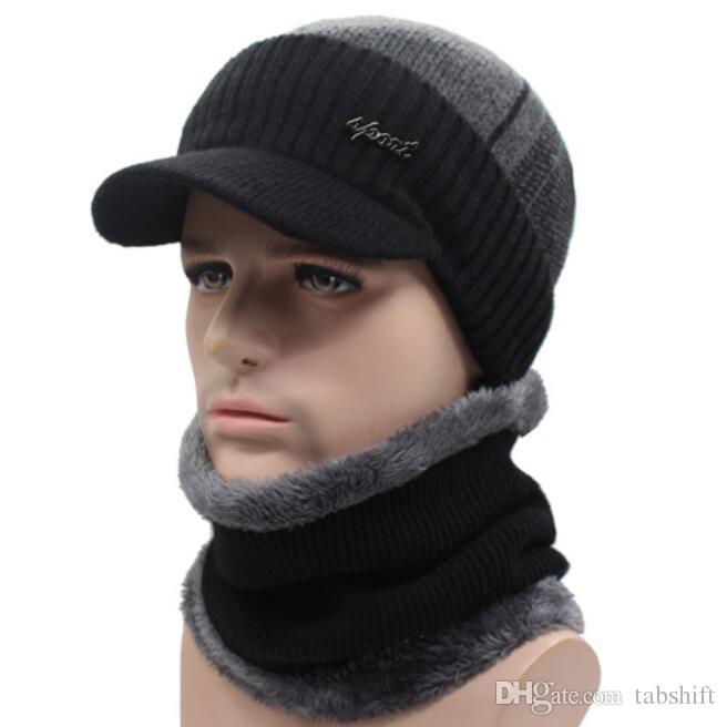 Compre Sombreros De Invierno Gorros Sombrero De Invierno Gorros Para  Hombres Mujeres Bufanda De Lana Gorros Pasamontañas Gorras Bonnet Sombrero  De Punto A ... 123af6809f0
