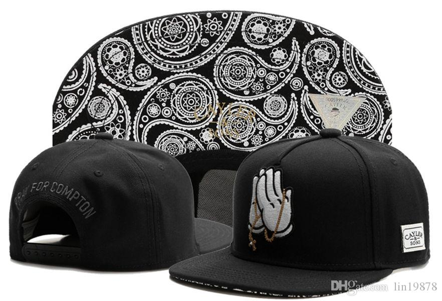 20ef65f95e Cayler & Sons God Pray For Compton Cashew Flowers Snapback Hats Bone Chapeu  Men Baseball Caps Hip Hop For Women Brand New Flexfit Hats For Men From  Lin19878 ...