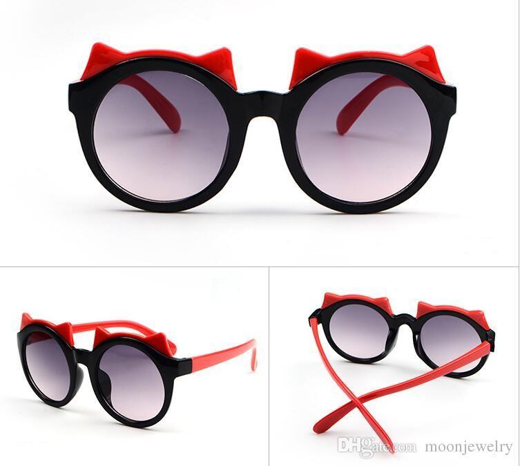 2018 Bull's glasses estilo fashion Frog mirror Óculos de sol infantis