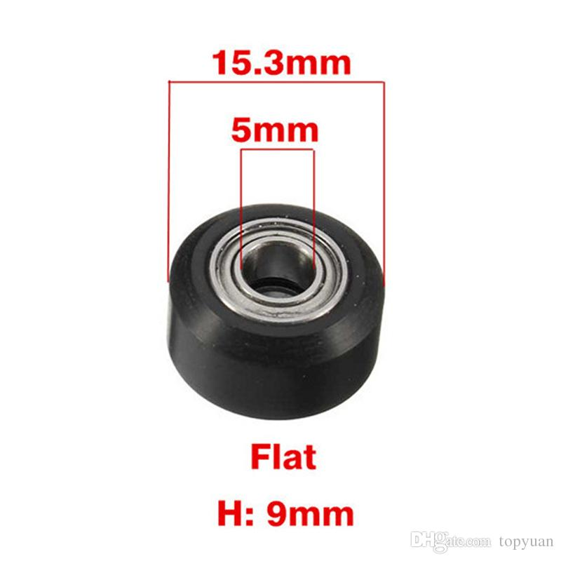 3D Printer Flat Type 15.3mm Outer Diameter Height Plastic Pulley Concave Idler Gear