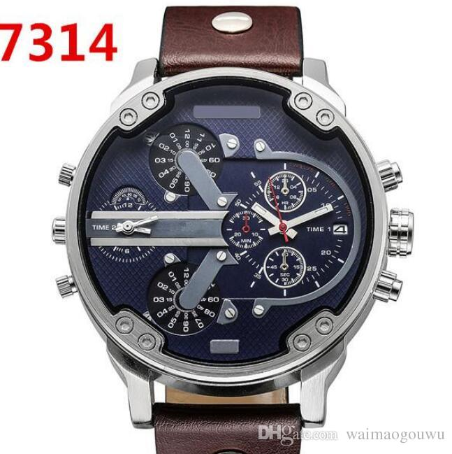 3f741f56d61a Compre DZ Watch For Man Big Dial Reloj Militar 2 Zonas Horarias Hombres  Deportes Reloj Moda Vestido Relojes Casual Reloj De Cuarzo Reloj A  9.14  Del ...