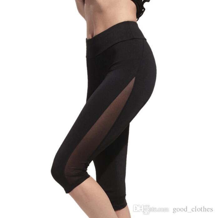 844c1a7d6613 2019 Women Stretch Fitness Pants Running Gym Sports Yoga Leggings Trousers Cropped  Yoga Outfits Leggings Pants KKA3609 From Good clothes