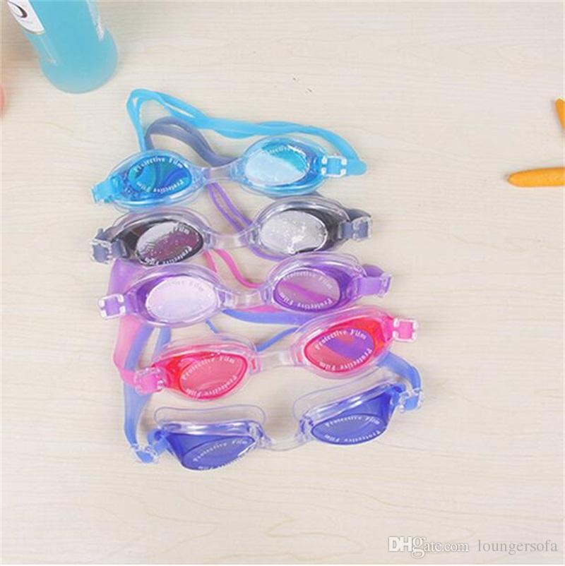 Su Sporları Antifog Yüzme Gözlük Çocuk Dalış Gözlük Silikon Ayarlanabilir Renkli Çocuk Gözlük Bardian Büyük Çerçeve 3 4dh Y