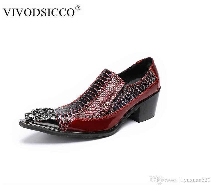 def8b8d1eea Compre Moda Hombre Zapatos Formales Tacones Altos Zapatos De Vestir De  Negocios Oxfords Puntiagudo Oxford Oxford Zapatos Para Hombres Zapatos De  Cuero A ...