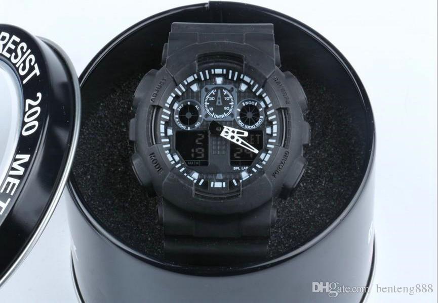 d94821b8f090 2018 новый мужчины работает военные часы Наручные часы ga100 светодиодные  кварцевые ...
