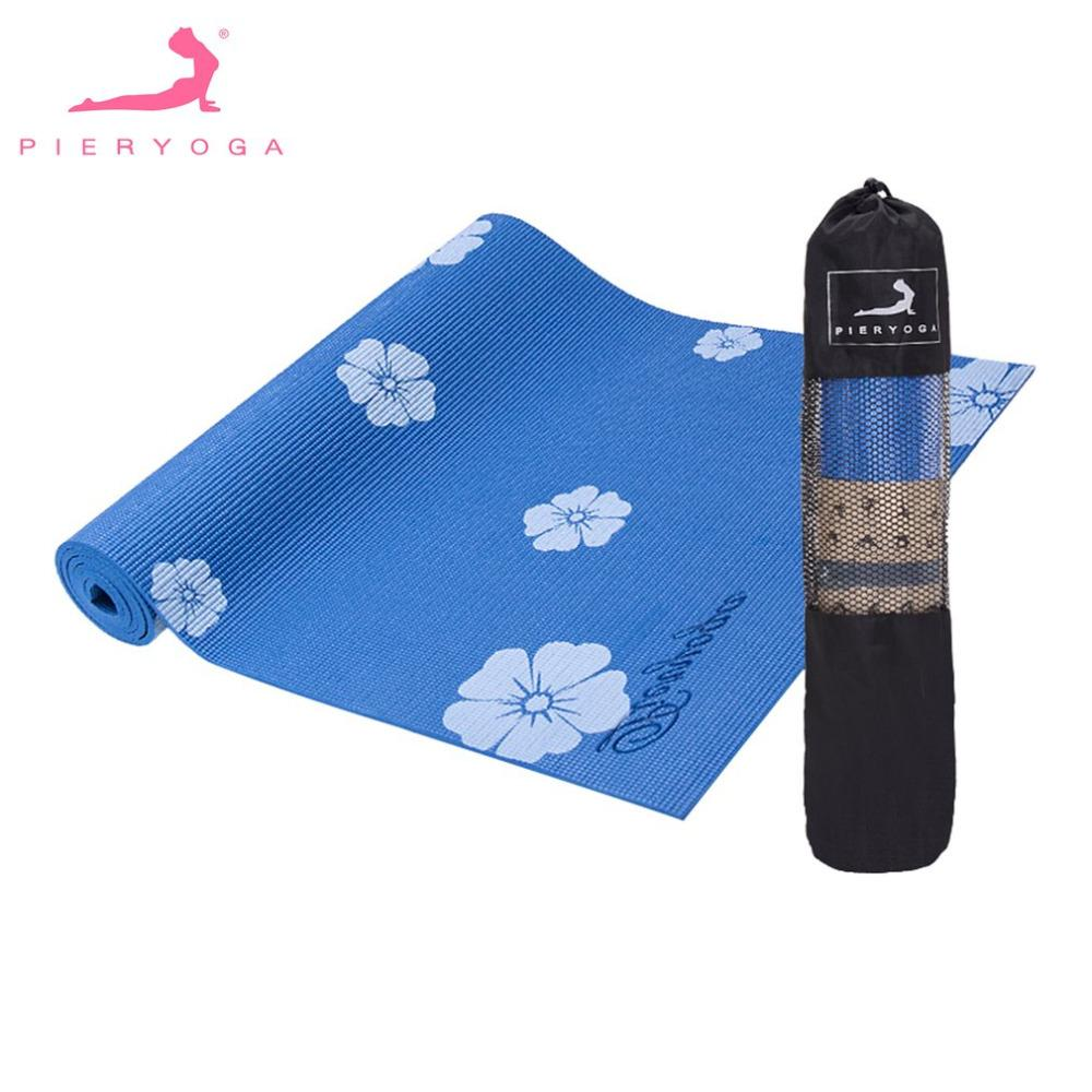 2018 Flower Yoga Mats Tasteless Non Slip Beginners Exercise ... on soccer pads, cricket pads, hockey pads, title leg pads, paintball pads, football pads, boxing pads,