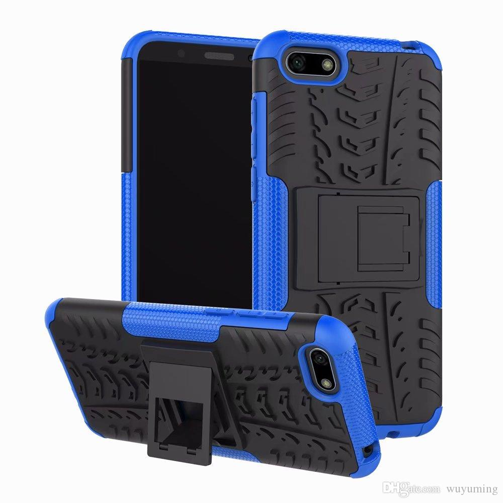 buy popular 299de 7b60d For Huawei Y5 2018 Cover Case Silicone Heavy Duty Armor Hard Rubber Phone  Cover for Huawei Y5 Prime 2018 Case 5.45inch