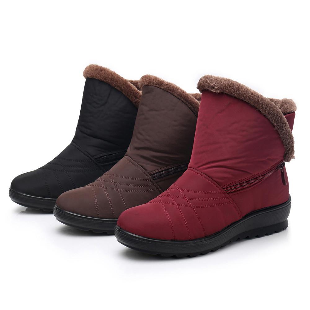 b0f31c2d540 Compre Botas Mujer Femme Mujer Mujer Invierno Impermeable Martin Botas De  Nieve Cortas Calzado Calzado Calzado Botas Para Zapatos Mujer Tallas  Grandes A ...