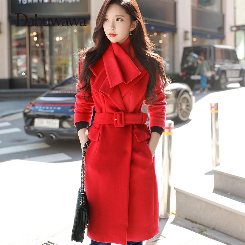 Moda Invierno Rojo Cachemira Cálida Navidad Dabuwawa Compre Abrigo TR8ntt