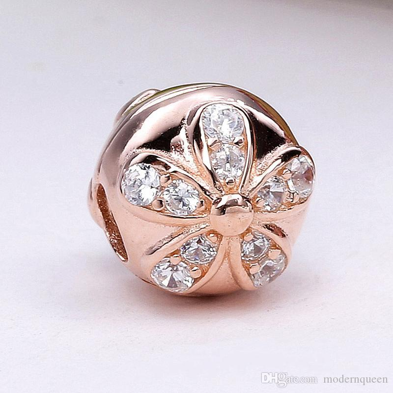 667fa9e2a 2019 S925 Silver Dazzling Daisies Clips Charms Fits For Pandora Style  Bracelet H8ale 781493CZ H8 From Modernqueen, $12.41 | DHgate.Com