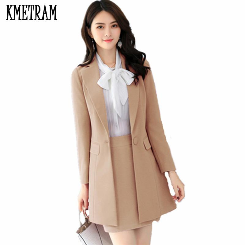 60ed2379a9e3 2019 KMETRAM 2018 New Fashion Women Suits Slim Work Wear Office ...