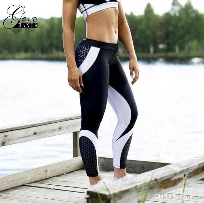 Kadın Tayt Patchwork Vücut Geliştirme İnce Legging Pantolon Spor Spor Kadın Şınav Pantolon Kadınlar Için Aktif Rahat Pantolon