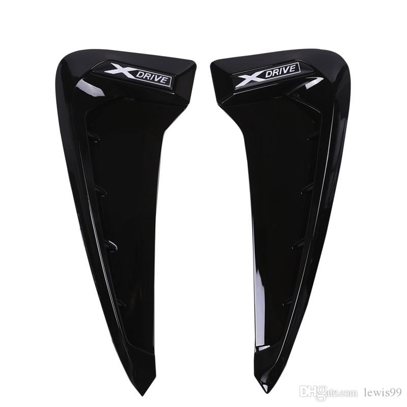 BMW X 시리즈 X5 F15 X5M F85 상어 아가미 측면 환기 스티커 액세서리에 대 한 ABS 자동차 앞 펜더 측면 공기 벤트 커버 트림 자동차 스타일링
