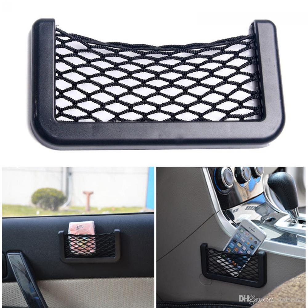 2017 HOT NEW Probable Vehicle Storage Mesh Resilient Car String Bag Nylon Network Pocket Handphone Holder Auto Accessories
