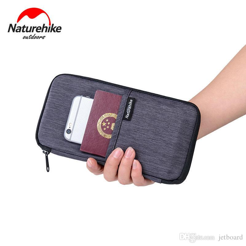 Portable Naturehike NH17C001-B Personalized Travel Passport Card Bag Ticket Cash Wallet Pouch Holder For hiking&camping storage