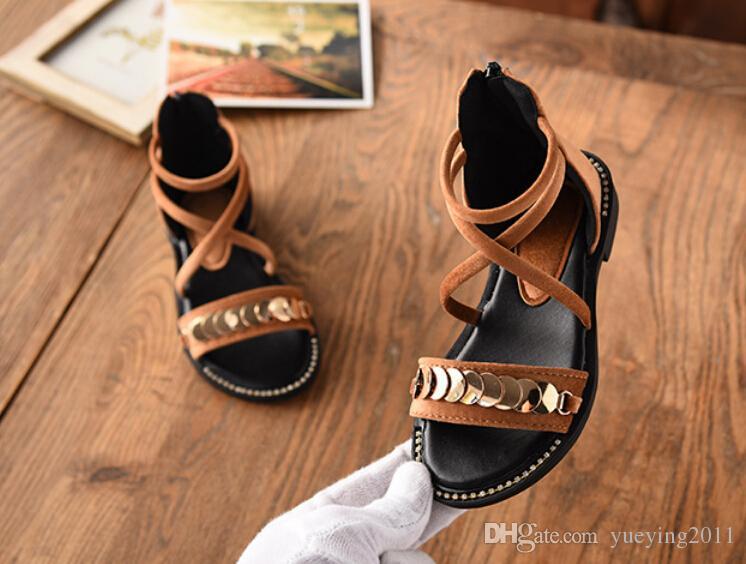 Pailletten Mädchen Sandalen 2018 Sommer neue koreanische Kinder weichen Boden Prinzessin Schuhe wilde Schuhe Kinder Sandalen