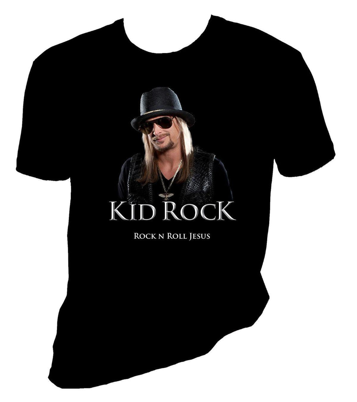 b0b03d6c141 Kid Rock T Shirt Rock N Roll Jesus Cool T Shirts Designs Best Selling Men  Summer 2018 Short Sleeve Plus Size Cool Looking T Shirts Buy Designer Shirts  From ...