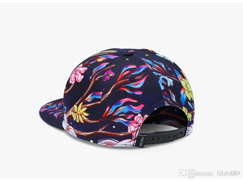 Nuevas mujeres y hombres de moda hip-hop imprimir buho sombrero de ocio sombrero gorra de béisbol